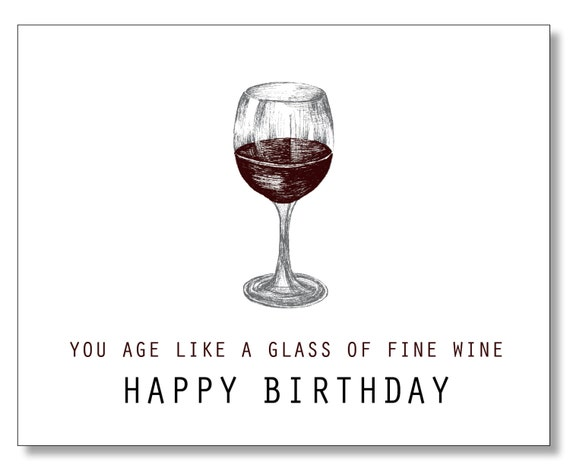 Over the hill birthday card wine lover card funny sweet kind like this item bookmarktalkfo Image collections
