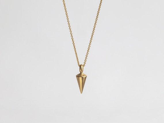 Pendulum mens gold pendant necklace plumb 14kt solid aloadofball Gallery