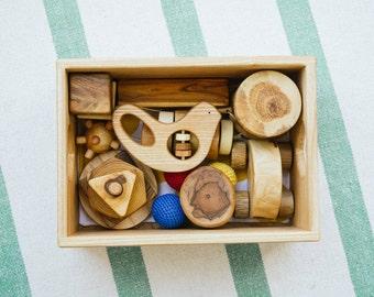 Baby cadeau set - baby speelgoed set - set van houten speelgoed voor baby - houten speelgoed voor baby instellen