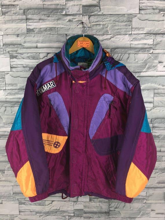 ESTIVO Bomber Jacket Medium Vintage 90's Estivo Abstract Multicolour Jacket Sportswear Colorblock Skiwear Snow Jacket Size M N91Le9LCQ