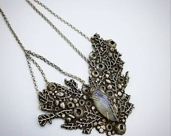 Deep sea moonstone necklace