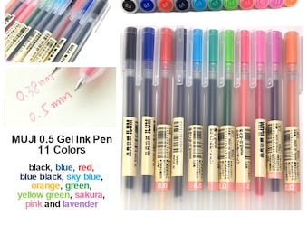 MUJI 0.5 Gel Ink Pen: Choose 2 Pens or More