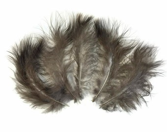 Wild Feathers, 1 Pack - NATURAL BLACK Wild Turkey Marabou Short Down Fluff Loose Feathers 0.10 oz. : 4047