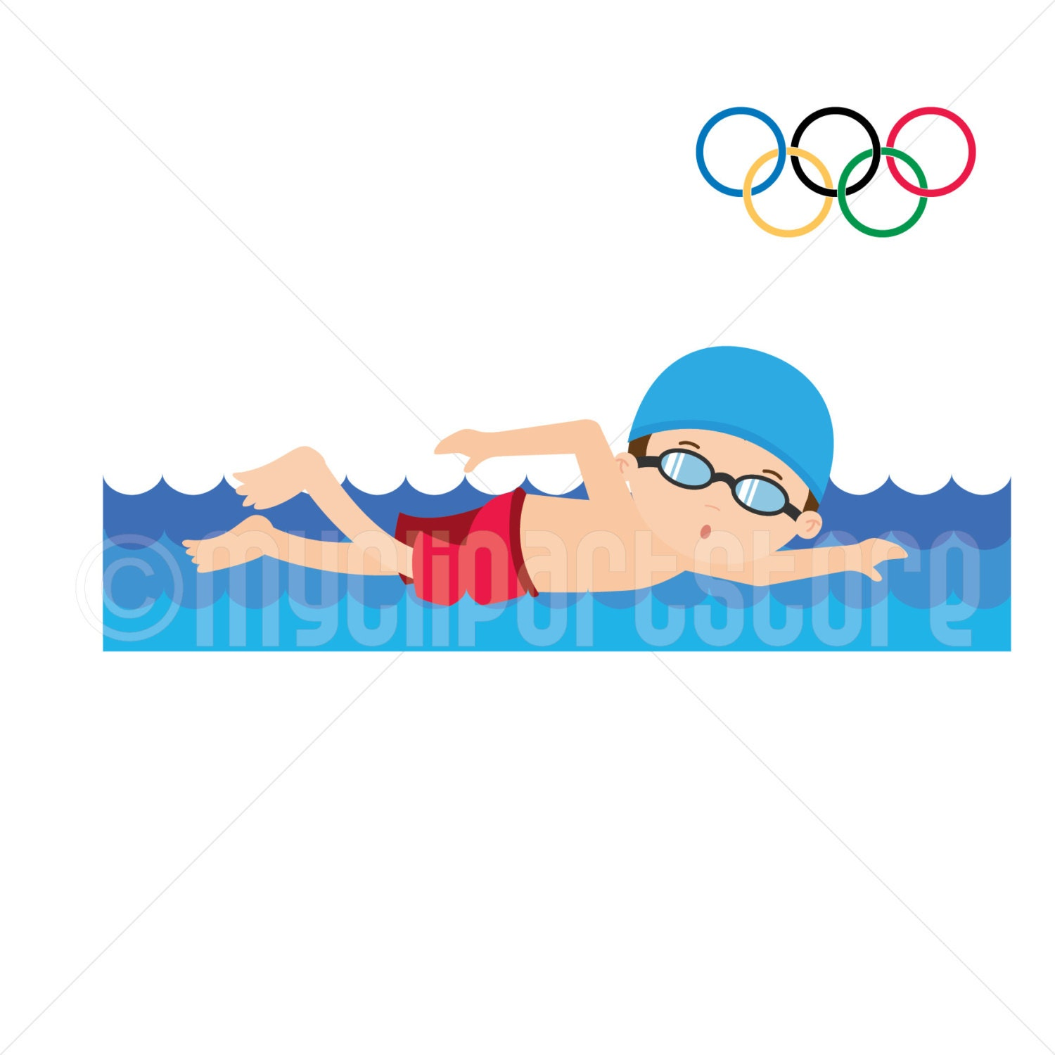 clipart summer olympics clipart swimming olympic games rh etsy com swimming clip art images swimming clipart