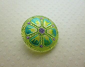 Lemon Green 27 mm - B27 0387 glass button