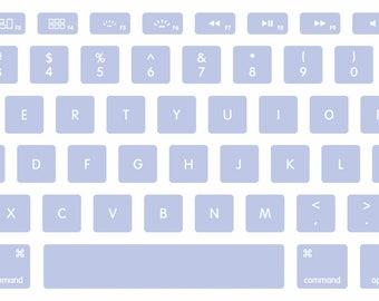 Pale Periwinkle Blue MacBook Keyboard Decal Stickers