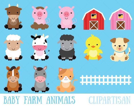 Farm Baby Animals Clipart Cute Animal Clipart Barnyard
