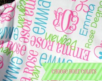 Personalized Swaddle Blanket - Custom Baby Blanket - Monogrammed Receiving Blanket - Fleece Blanket - Hospital Blanket - Baby Photo Prop