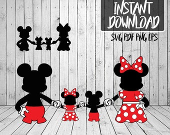 Mickey and Minnie Family SVG