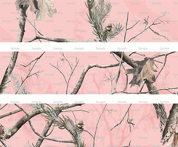 Pink Woodland Camo - Birthday Background - Designer Strips - Edible Cake Side Toppers- Decorate The Sides of Your Cake! - D5442