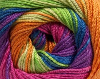 Rainbow Shades 100% Cotton Magic Ice Yarn - 100g ball - UK Seller - knitting crochet wool #2 baby sport weight self-striping gradient
