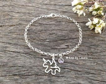 Unicorn Bracelet-Sterling Silver 925