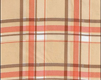 Plaid Oilcloth By The Yard
