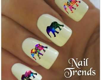 Elephant Nail Decal 20  Vinyl Adhesive Decals Nail Tattoos  Nail Art