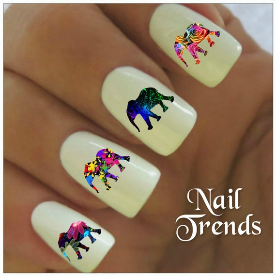 Arte de uñas de elefante clavo etiqueta 20 vinilo decoración