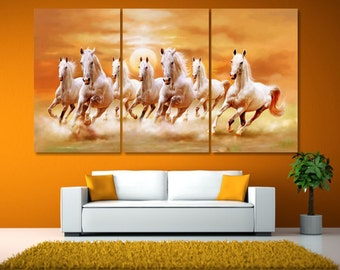 Horse Lover Gift Canvas Print, Horse Gift for Her, Nursery Prints Horse, Extra Large Horse Print, Horse Lovers Gifts, Horse Wall Art LC058