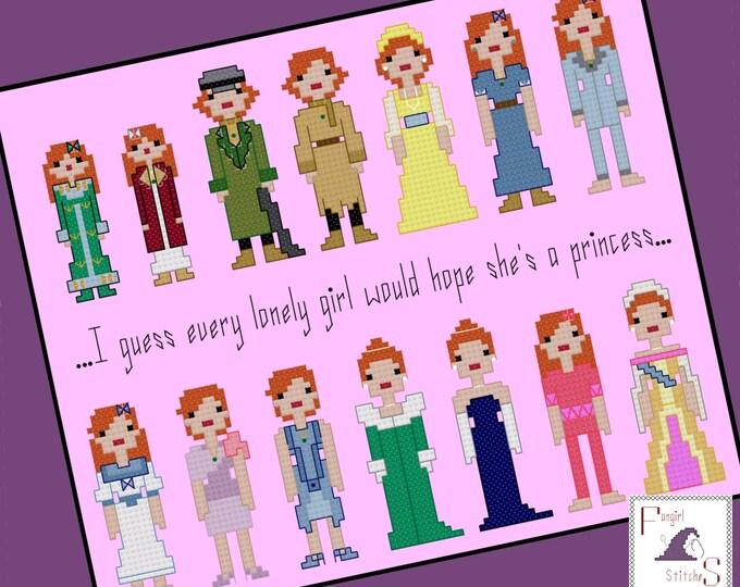 Dutchess Anastasia Costumes Cross Stitch Pattern - PDF Pattern - Instant Download