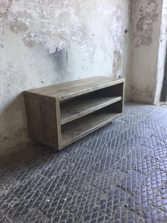rustic industrial scaffold board tv unit. Black Bedroom Furniture Sets. Home Design Ideas