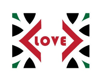 Love in African National Colors