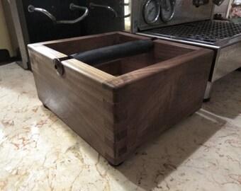 Knock box for espresso machine