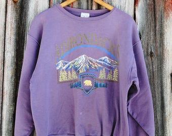 Vintage Adirondack Souvenir Granny Sweatshirt