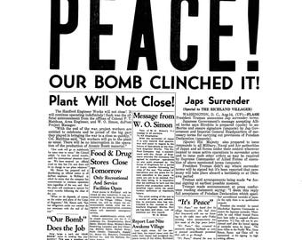 PEACE Our Bomb Clinched It! Print, Various Sizes