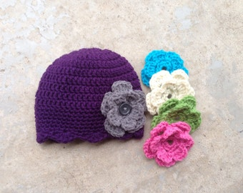 Lacy scalloped Flower hat