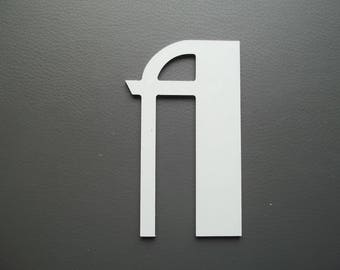 BETTY Black Aluminum metal letter. all letters available