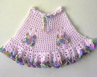 Rainbow and Butterflies Girls Poncho CROCHET PATTERN - INSTANT Download