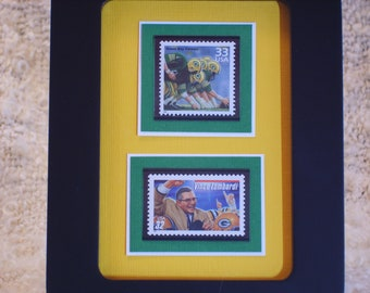 The Green Bay Packers - Framed Stamps