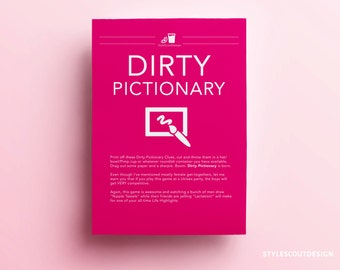 Dirty Pictionary Bachelorette Party Game - Bachelorette Game Printable
