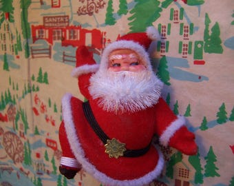 adorable flocked cutie pie santa