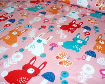 Cotton fabric Secret Garden - Bunny