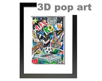 FC Cologne, FC Köln, football merchandise 3D Pop Art shadow box