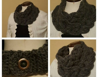 Braided cowl Crochet cowl Double braided cowl Neck warmer