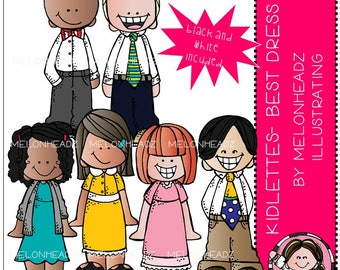 Kidlettes clip art - Best Dress - Mini