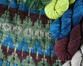 Windham Set for Dionisio point (or anything!) includes: One full Windham skein (220yds ~4oz) & 4 contrasting 1/4 skeins (55yds ~10z each)