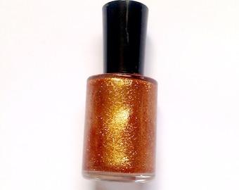Sparkling Cider-Vegan Nail Polish-Glitter Nail Polish-Bronze-Glitter-Nail Polish