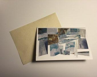 Icy Blue card (blank)