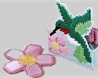 HUMMINGBIRD & DAISY Coaster Set - Includes 4 Daisy Coasters With Hummingbird Holder - Handmade