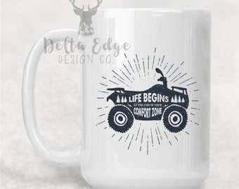 Life Begins where Comfort Zone Ends - Mug - Drinkware - Gift