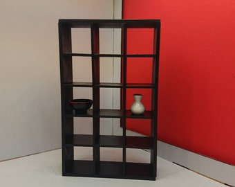 IKEA inspired miniature dollhouse  1/12  EXPEDIT bookcase 3 x 5