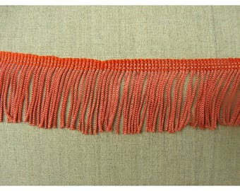 small fringe polyester - 5 cm - coral