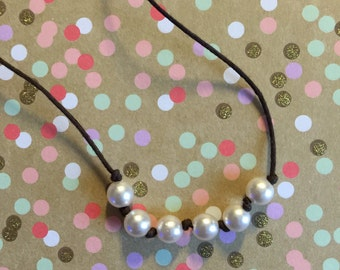 """Toddler/Child """"Miss Priss"""" pale pink pearl necklace"""