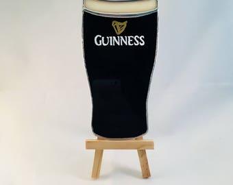St Patricks Guinness - Pint Glass Beer Stained Glass Ornament Decoration Suncatcher