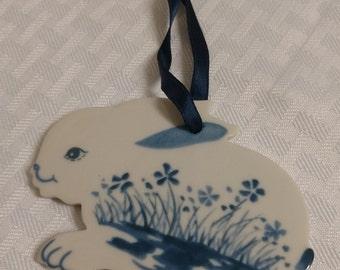 RUSS BERRIE Bunny Rabbit Ornament