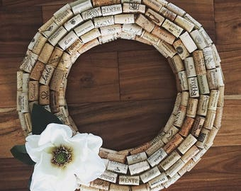 Magnolia Cork Wreath