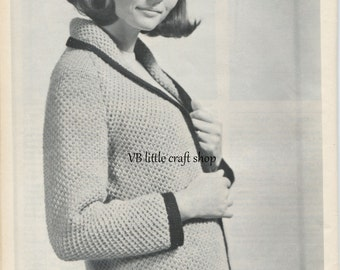 Lady's jacket knitting pattern. Instant PDF download!