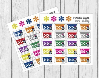 Planner Stickers 20 Small Laundry Baskets Soap Stickers Planner Stickers
