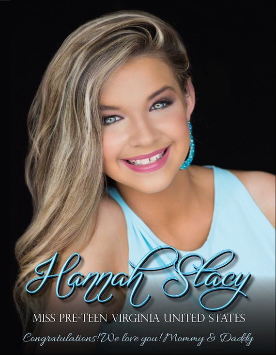 pageant ad page template